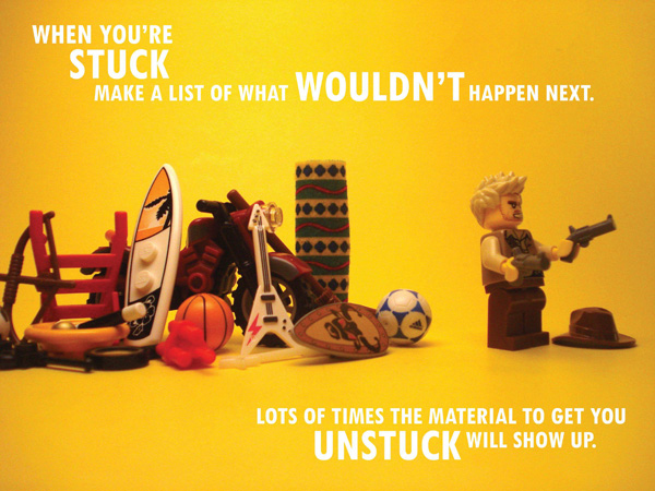 Pixars Rules of Storytelling in Lego Stuck