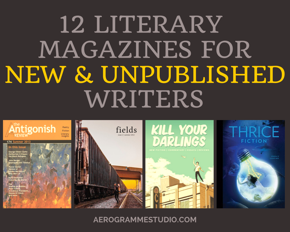 literary magazines for new unpublished writers