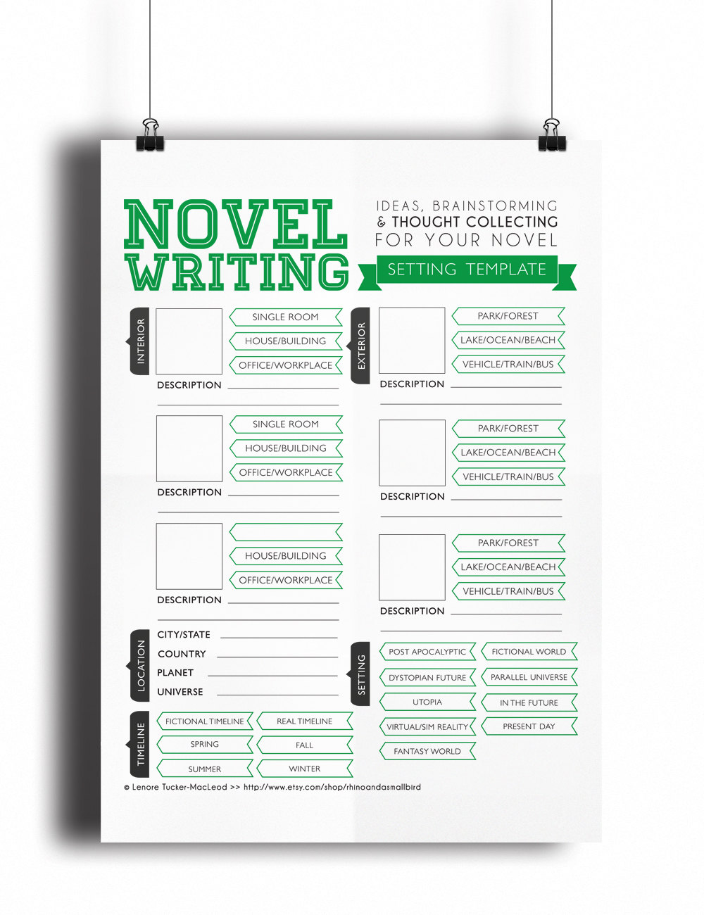 Christmas Gifts for Writers - Novel Writing Templates