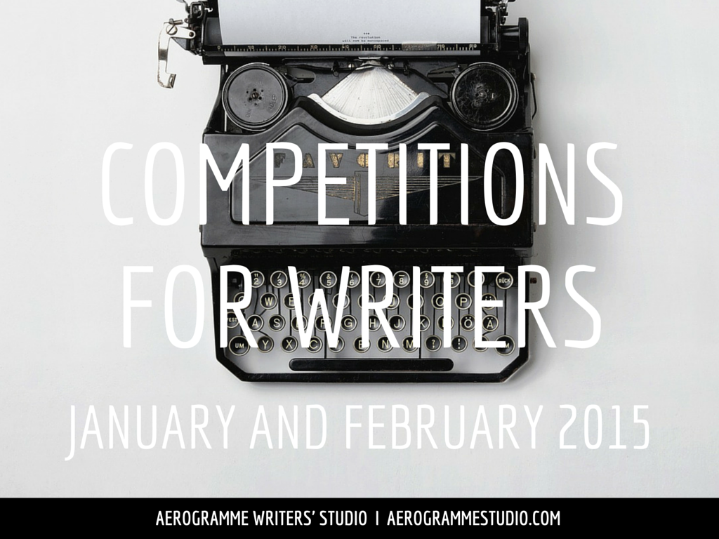 Competitions for Writers in January and February 2015