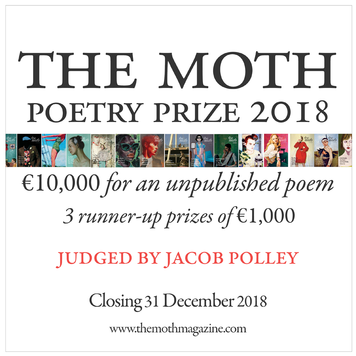 The Moth's €10,000 Poetry Prize: Entries Open Until 31 December