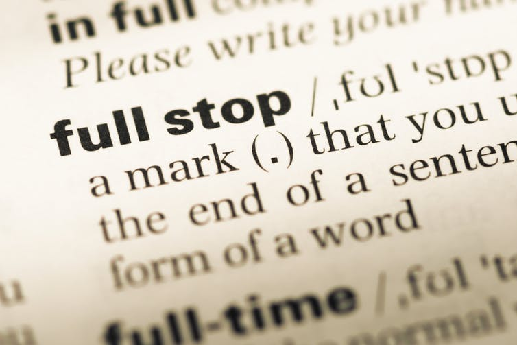 Why We Should Learn to Love the Full Stop.
