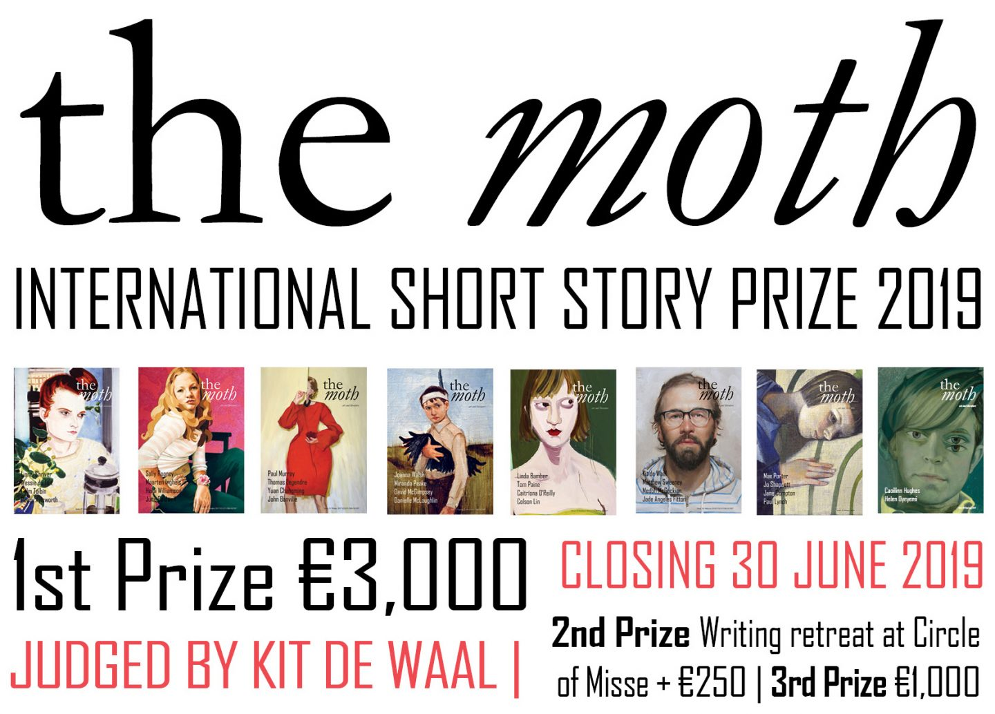 The Moth International Short Story Prize: Entries Close 30 June