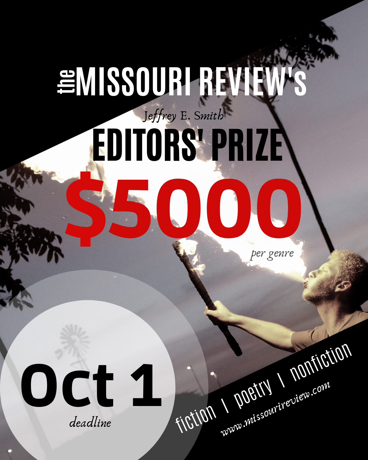 The Missouri Review's Editors' Prize: Entries Open Until 1 October